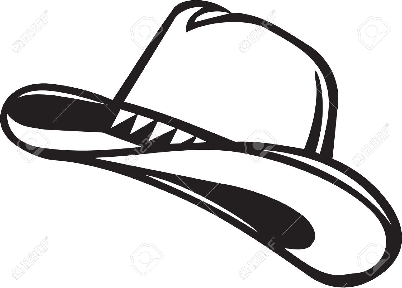 Cowboy hat clipart black and white image transparent download Best Cowboy Hat Clipart #16010 - Clipartion.com image transparent download