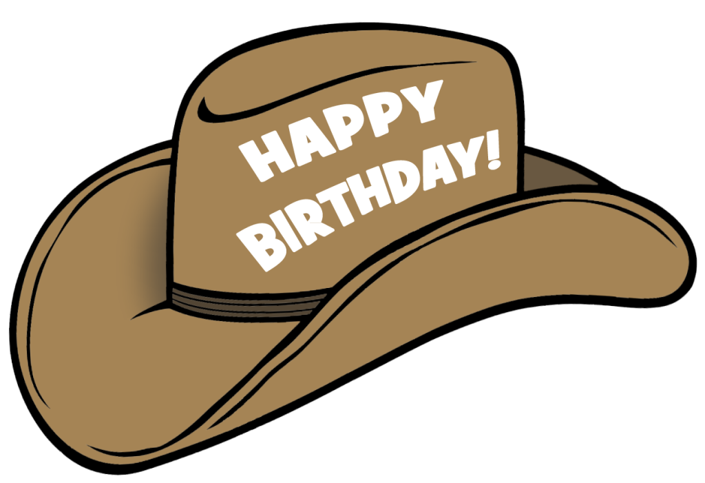 Cowboy hat crown clipart graphic black and white library Cowboy Birthday Hats - Hat HD Image Ukjugs.Org graphic black and white library