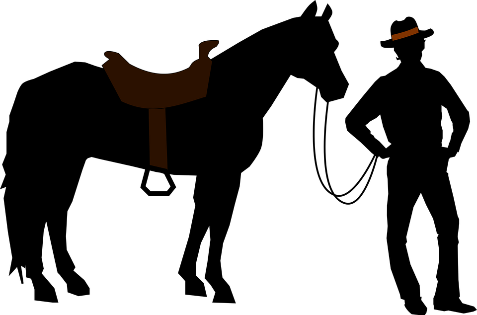 Cowboy praying at cross clipart graphic transparent Horse And Cowboy Silhouette at GetDrawings.com | Free for personal ... graphic transparent