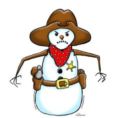 Western snowman clipart graphic download Cowboy Snowman Cliparts - Cliparts Zone graphic download