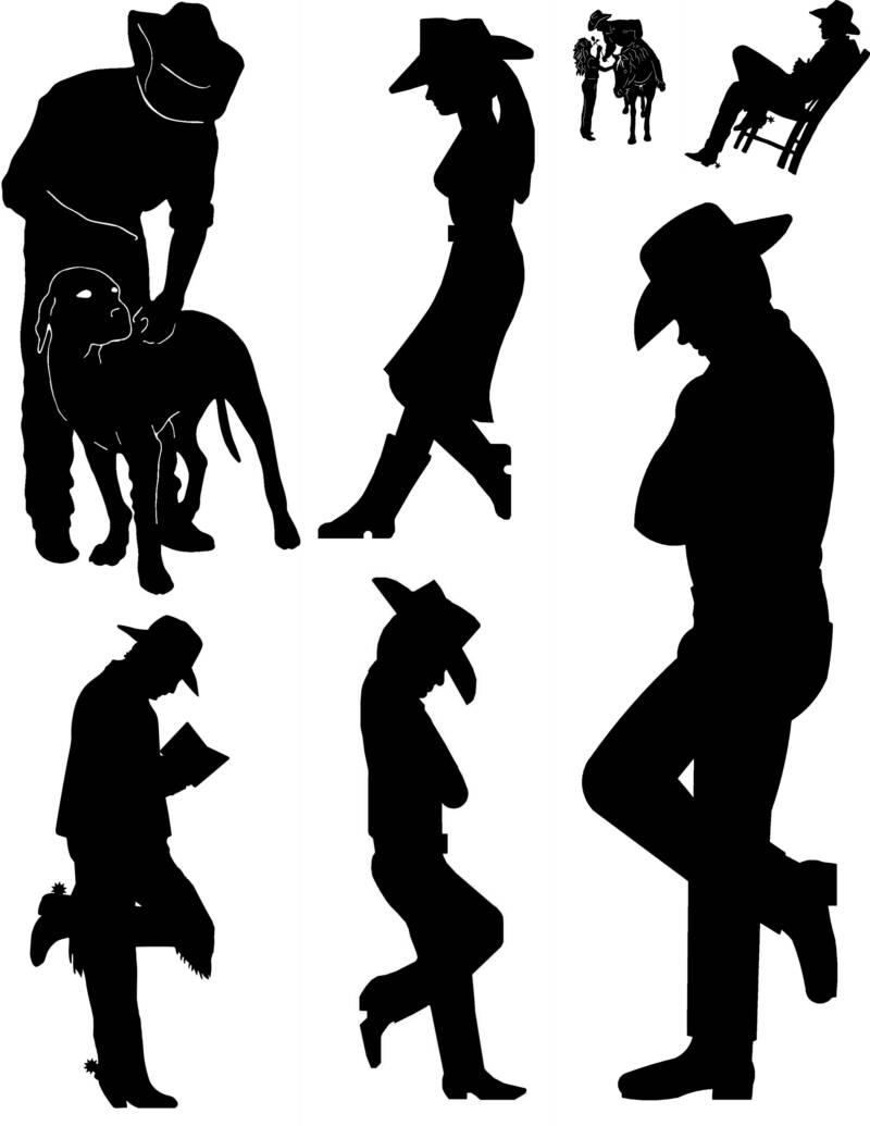 Cowboy silhouette patterns free clipart. Clipartfest images about