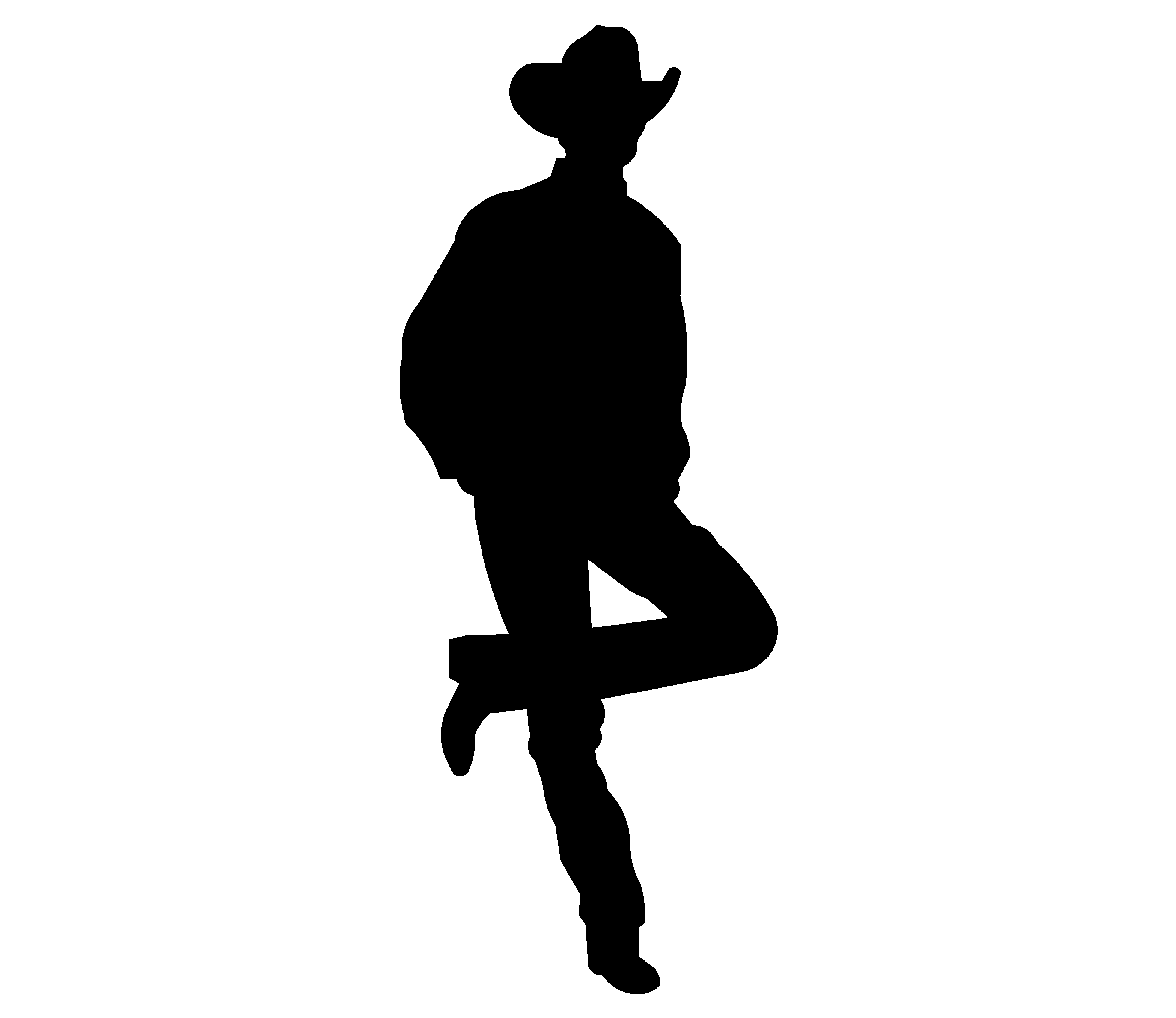 Cowboy silhouette patterns free clipart clipart transparent stock Cowboy Silhouette | Free Download Clip Art | Free Clip Art | on ... clipart transparent stock