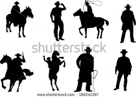 Cowboy silhouette patterns free clipart banner download Cowboy Silhouette Stock Images, Royalty-Free Images & Vectors ... banner download