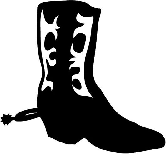 Western boot with pattern. Cowboy silhouette patterns free clipart