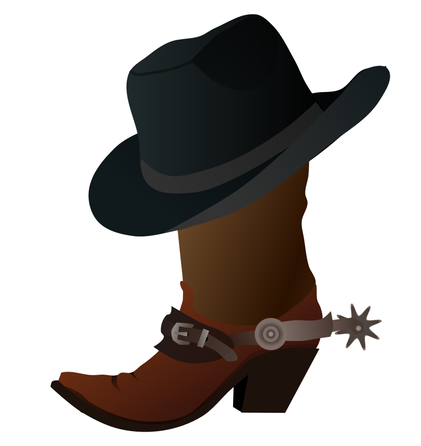 Cowboys boots clipart with crown clipart black and white download 28+ Collection of Free Clipart Cowboy Hat And Boots | High quality ... clipart black and white download