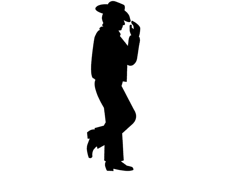 Cowboys in a row silhouette patterns free clipart jpg black and white Silhouette Cowboy - Clip Art Library jpg black and white