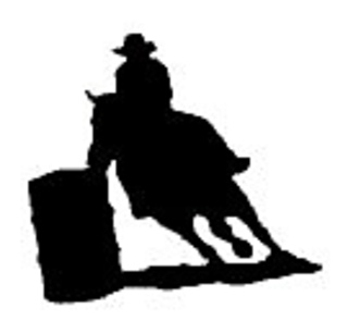 Cowboys in a row silhouette patterns free clipart svg download Barrel Racer Chart pattern by Lea Barrick svg download