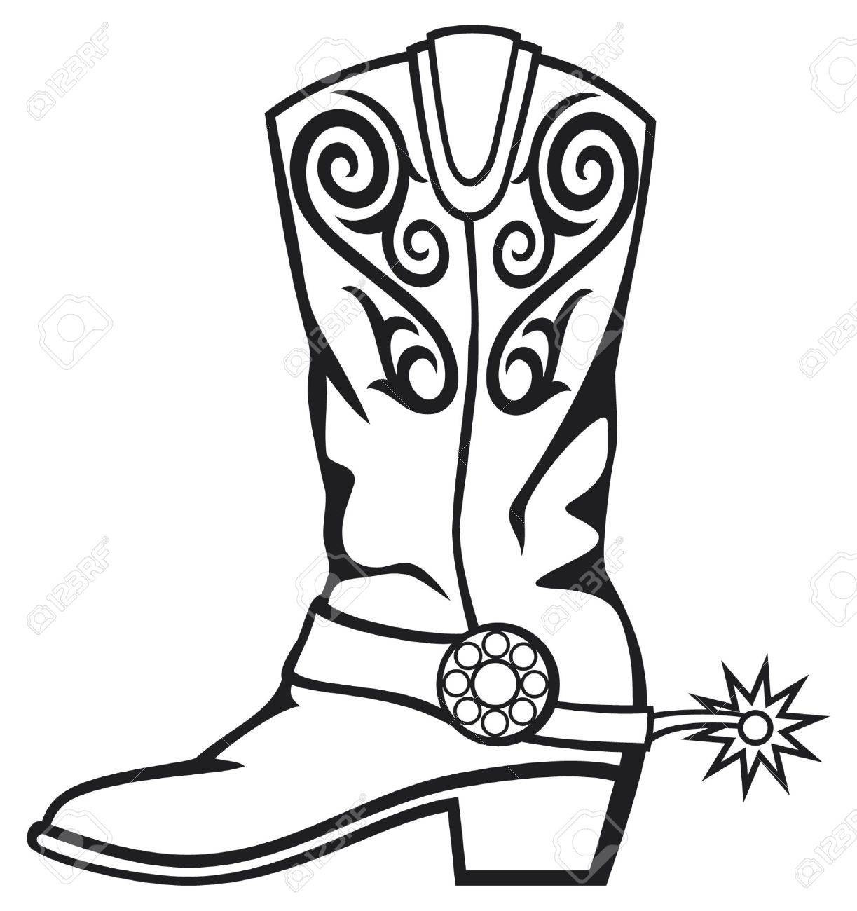 Cowgirl boots clipart black and white clip art royalty free library Cowboy boots clipart black and white 5 » Clipart Station clip art royalty free library