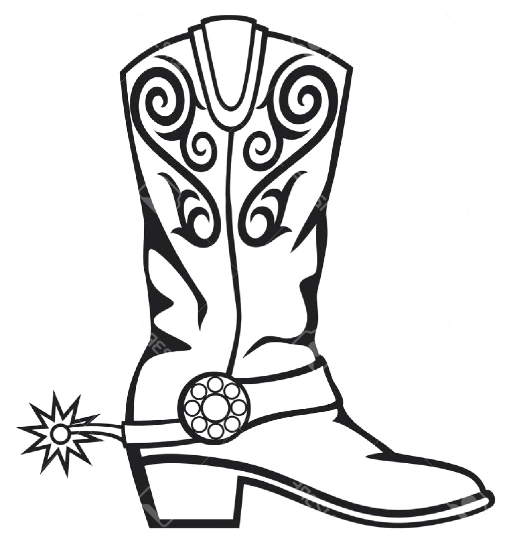 Cowgirl boots clipart black and white freeuse download Cowboy boots clipart black and white 2 » Clipart Station freeuse download