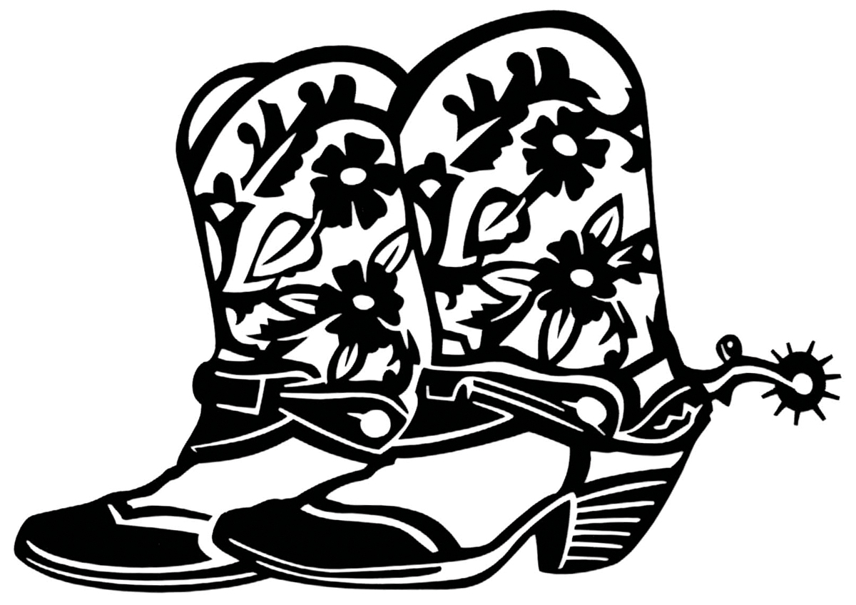 Cowgirl boots clipart black and white banner free download Cowboy Boot Black And White | Free download best Cowboy Boot Black ... banner free download