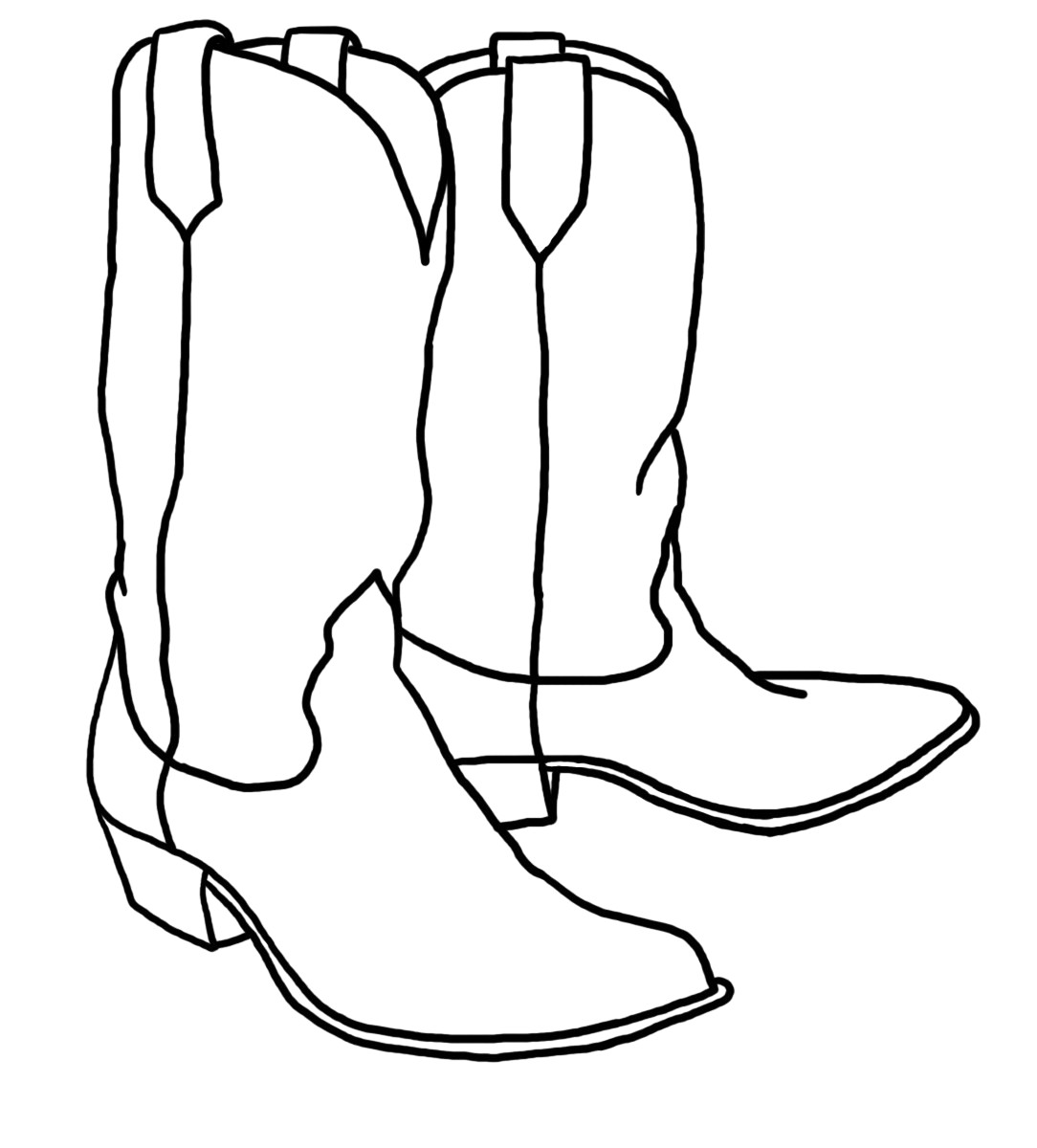 Cowgirl boots clipart black and white clip black and white library Cowboy boots clipart black and white 3 » Clipart Station clip black and white library
