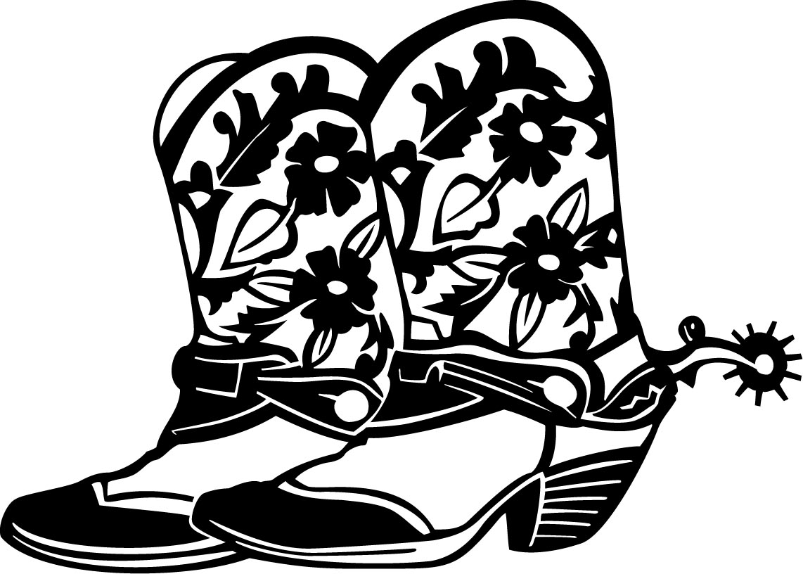 Cowgirl boots clipart black and white clipart stock Cartoon cowboy boots clip art indian costumes cowboy and cowgirl 3 ... clipart stock