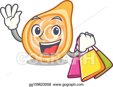 Coxinha clipart png free download Vector Illustration - Shopping snacks coxinha on a character plates ... png free download