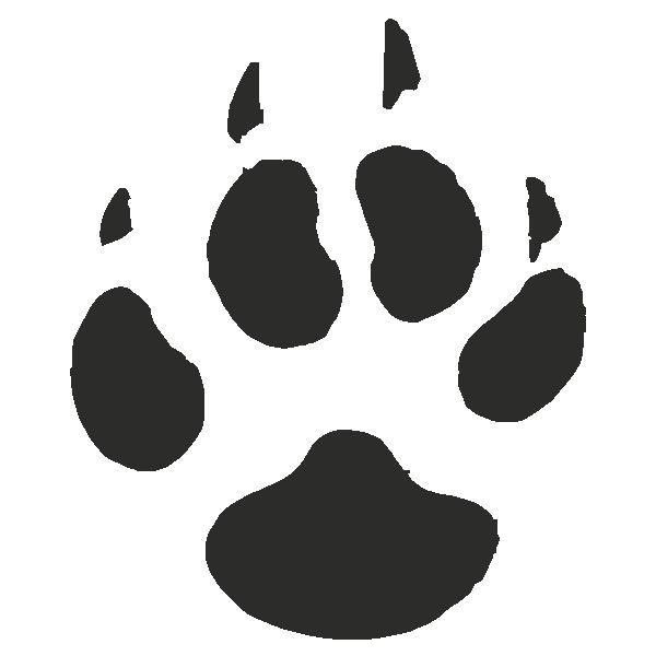 Coyote paw print clipart freeuse Coyote Paw Print Tracks - Decals Stickers ❤ liked on Polyvore ... freeuse