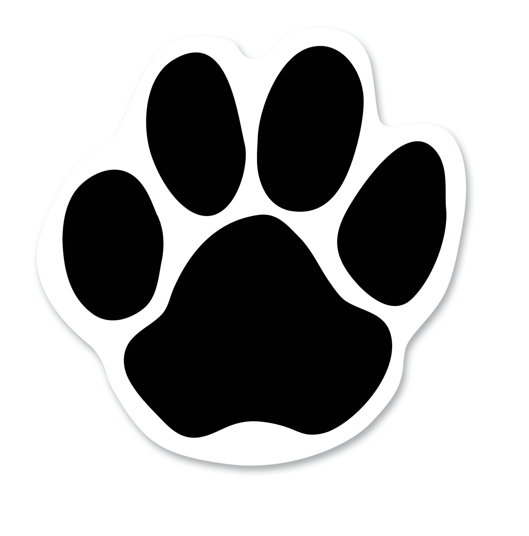 Coyote paw print clipart vector black and white library Jaguar Paw Print Clipart | Free download best Jaguar Paw Print ... vector black and white library