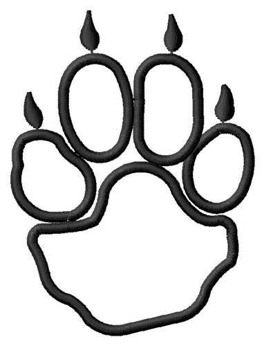 Coyote paw print clipart png black and white download Animals Embroidery Design: Coyote Paw Outline from Grand Slam ... png black and white download