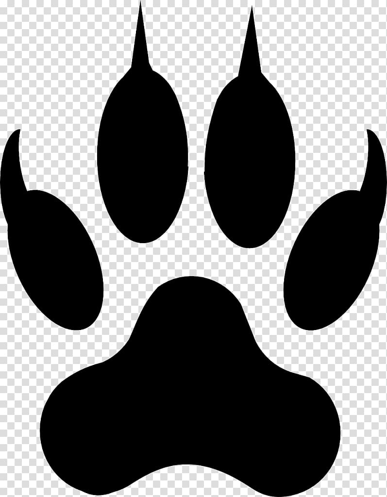 Coyote paw print clipart transparent download Bear paw illustration, Dog Cat Paw Coyote , paw prints transparent ... transparent download