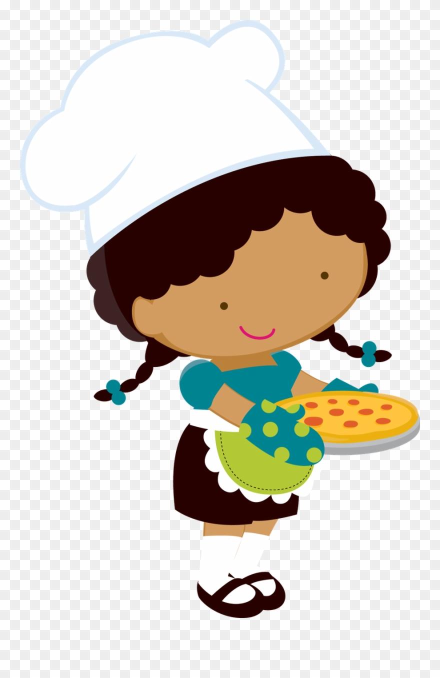 Cozinheira desenho clipart