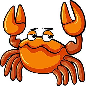 Crab emoji clipart banner black and white library Amazon.com: Cute Ocean Sea Creature Crab Crustacean Cartoon Emoji ... banner black and white library