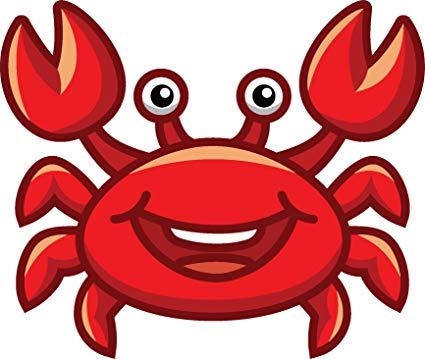 Crab emoji clipart clip art library stock Amazon.com: Cute Sweet Ocean Sea Creature Cartoon Emoji Vinyl ... clip art library stock