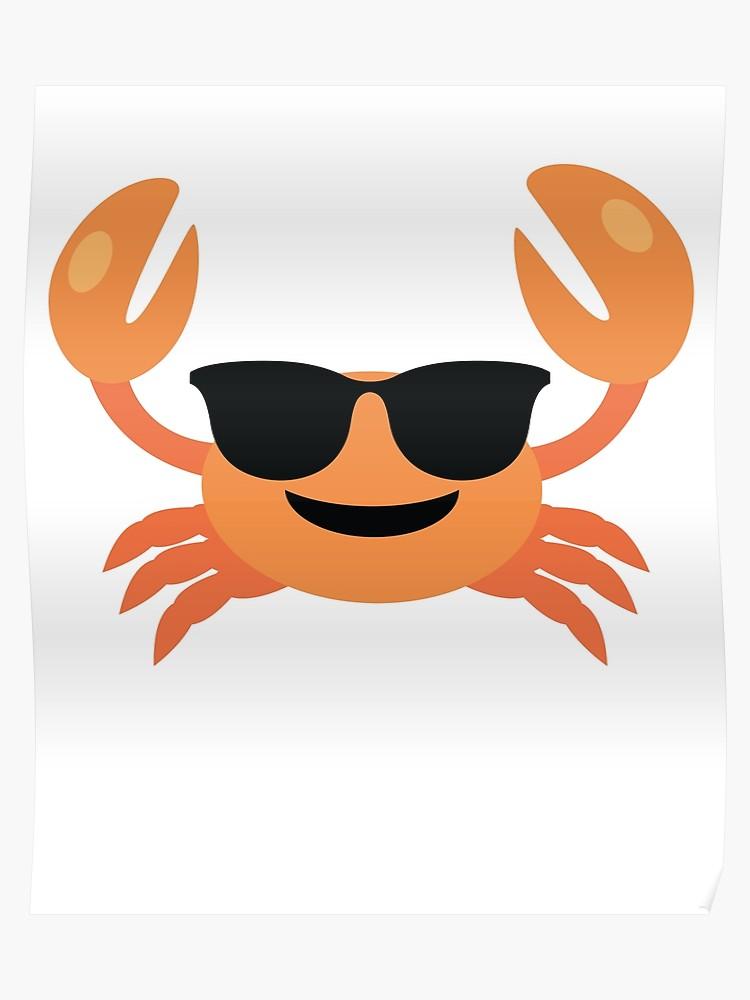 Crab emoji clipart vector library Crab Emoji | Poster vector library