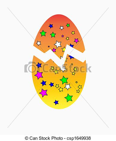 Crack easter egg clipart freeuse Stock Illustration of Cracked Easter Egg - A colourful cracked ... freeuse