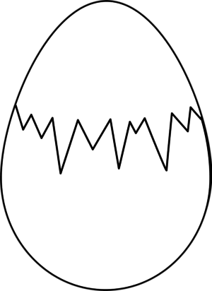 Crack easter egg clipart png download Cracked egg clipart black and white - ClipartFest png download