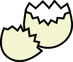 Crack egg clipart clipart black and white library Clip Art Cracked Egg Whites Clipart - Clipart Kid clipart black and white library