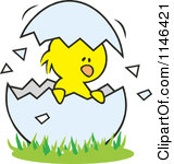Cracked egg clip art png royalty free library Cartoon of a Yolk Flying from a Cracked Egg - Royalty Free Vector ... png royalty free library