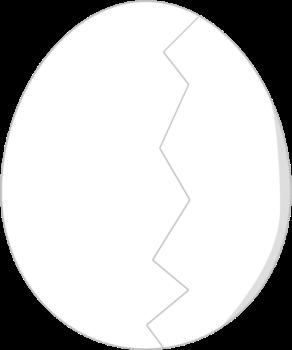 Cracked egg clip art clip black and white Clip Art Cracked Egg Whites Clipart - Clipart Kid clip black and white