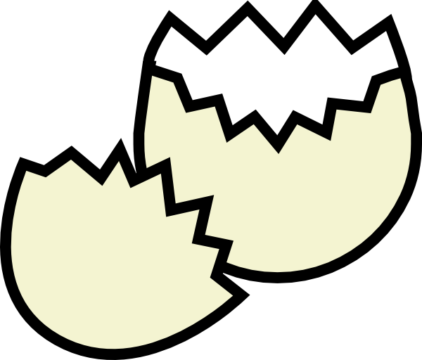 Cracked open egg clipart banner free Cracked Egg Clip Art at Clker.com - vector clip art online, royalty ... banner free