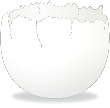 Cracked egg shell clip art jpg royalty free download Cracked Egg Clipart - Clipart Kid jpg royalty free download