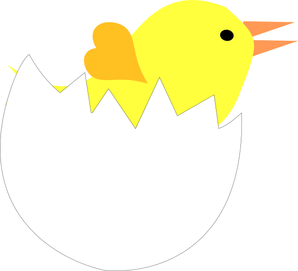 Cracked heart clipart royalty free library Yellow Chick In Cracked Eggshell Clip Art at Clker.com - vector ... royalty free library