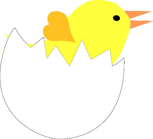 Cracked egg shell clip art clipart library library Yellow Chick In Cracked Eggshell Clip Art at Clker.com - vector ... clipart library library