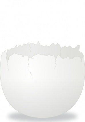 Cracked egg shell clip art clipart black and white stock Cracked Egg Clipart - Clipart Kid clipart black and white stock