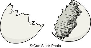 Cracked egg shell clip art png black and white download Vector Clip Art of Cracked Eggshell - Single isolated cracked ... png black and white download