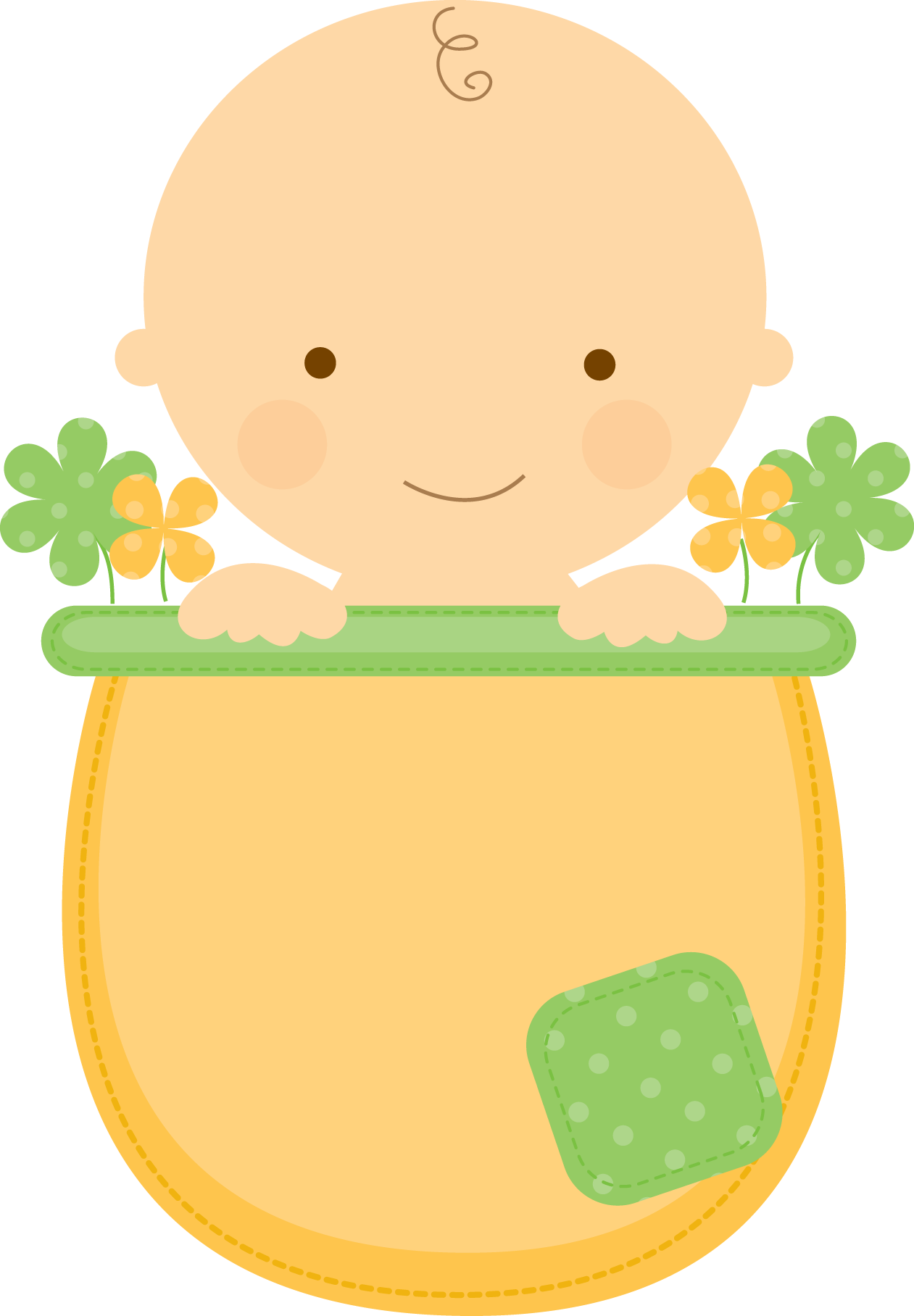 Cracked flower pot clipart png royalty free download Flowerpot Babies - ClipArt.BabyInFlowerpot_Boy_Green.png - Minus ... png royalty free download
