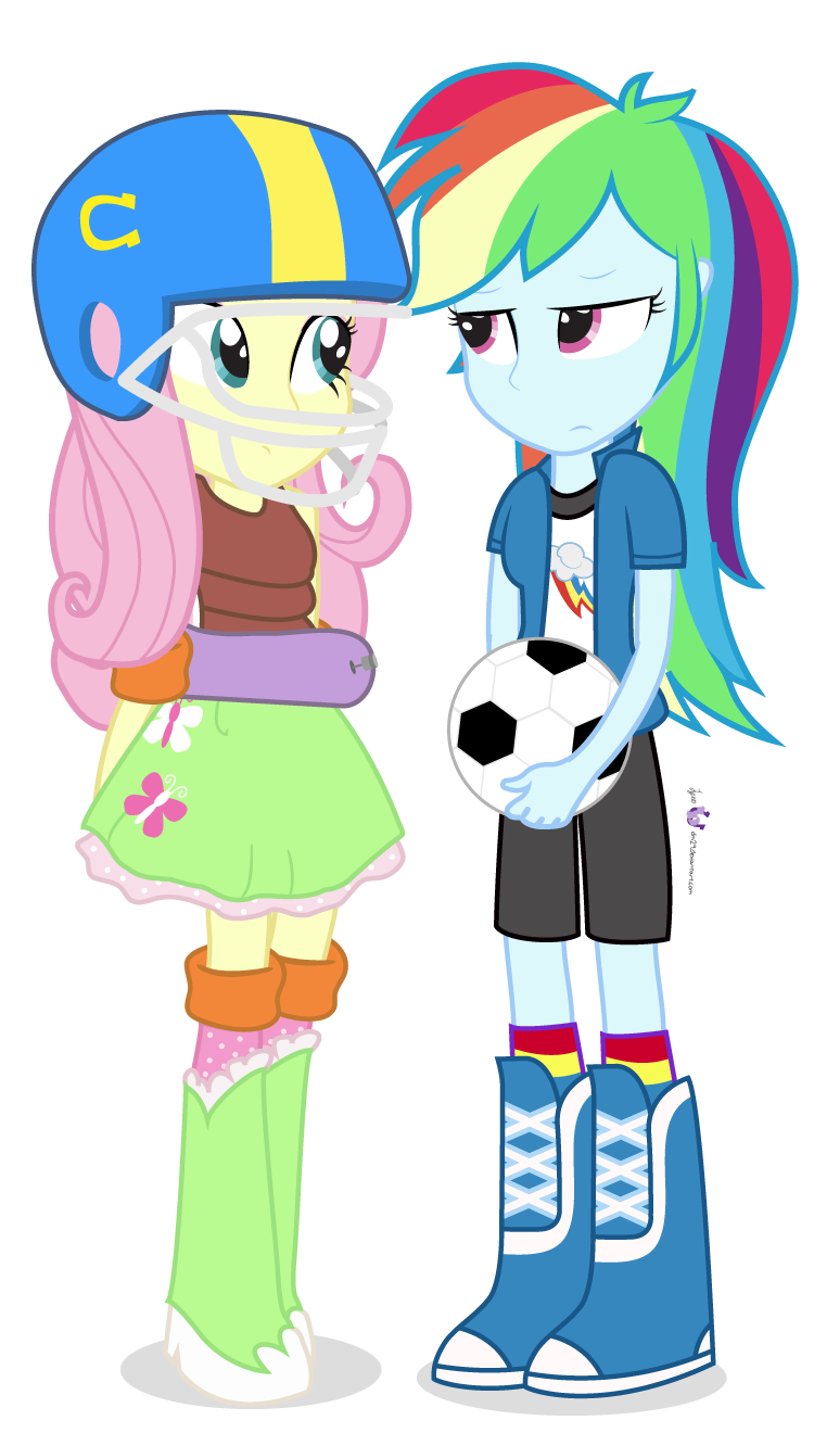 Girls playing football clipart jpg library 424260 - american football, artist:dm29, duo, equestria girls ... jpg library