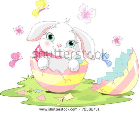 Cracked open easter egg free clipart graphic black and white stock Broken Easter Egg Stock Images, Royalty-Free Images & Vectors ... graphic black and white stock