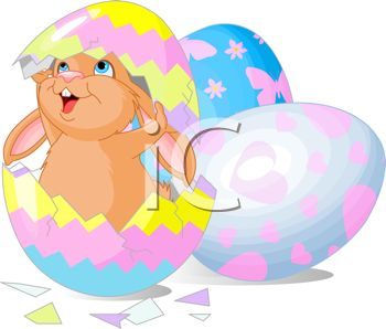 Cracked open easter egg free clipart. Clipartfest colored