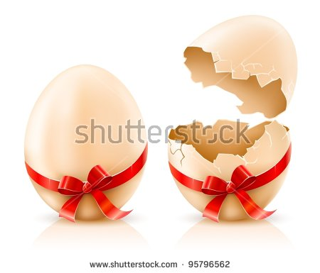 Stock images royalty vectors. Cracked open easter egg free clipart