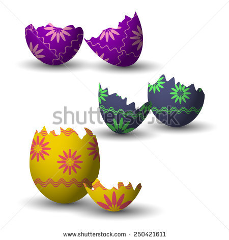 Cracked open easter egg free clipart. Broken stock images royalty