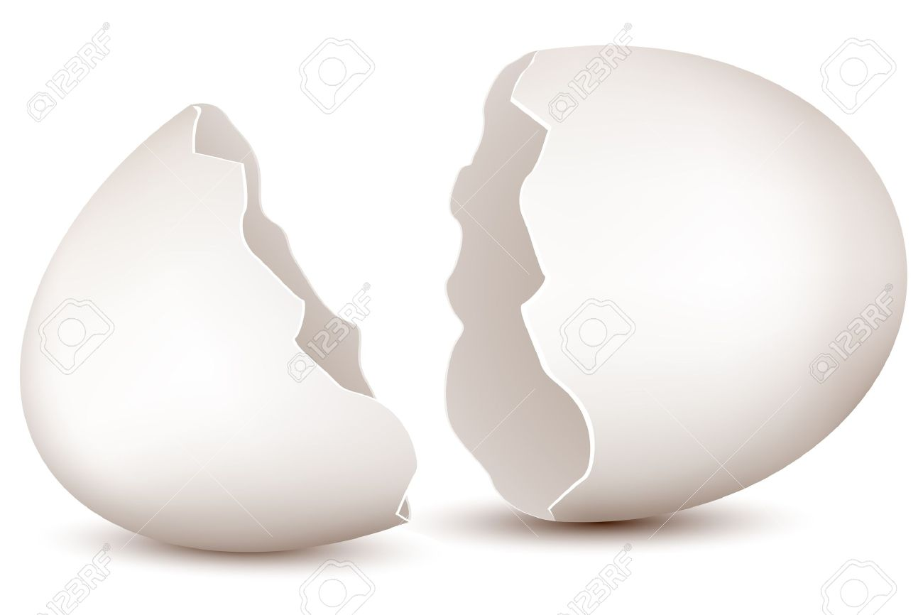 Cracked open egg clipart. Illustration of broken on