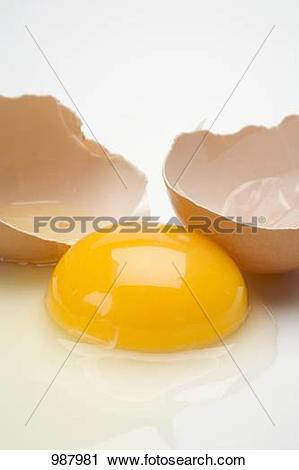 Cracked open egg clipart clip free stock Stock Photography of Egg, cracked open (egg yolk and eggshell ... clip free stock