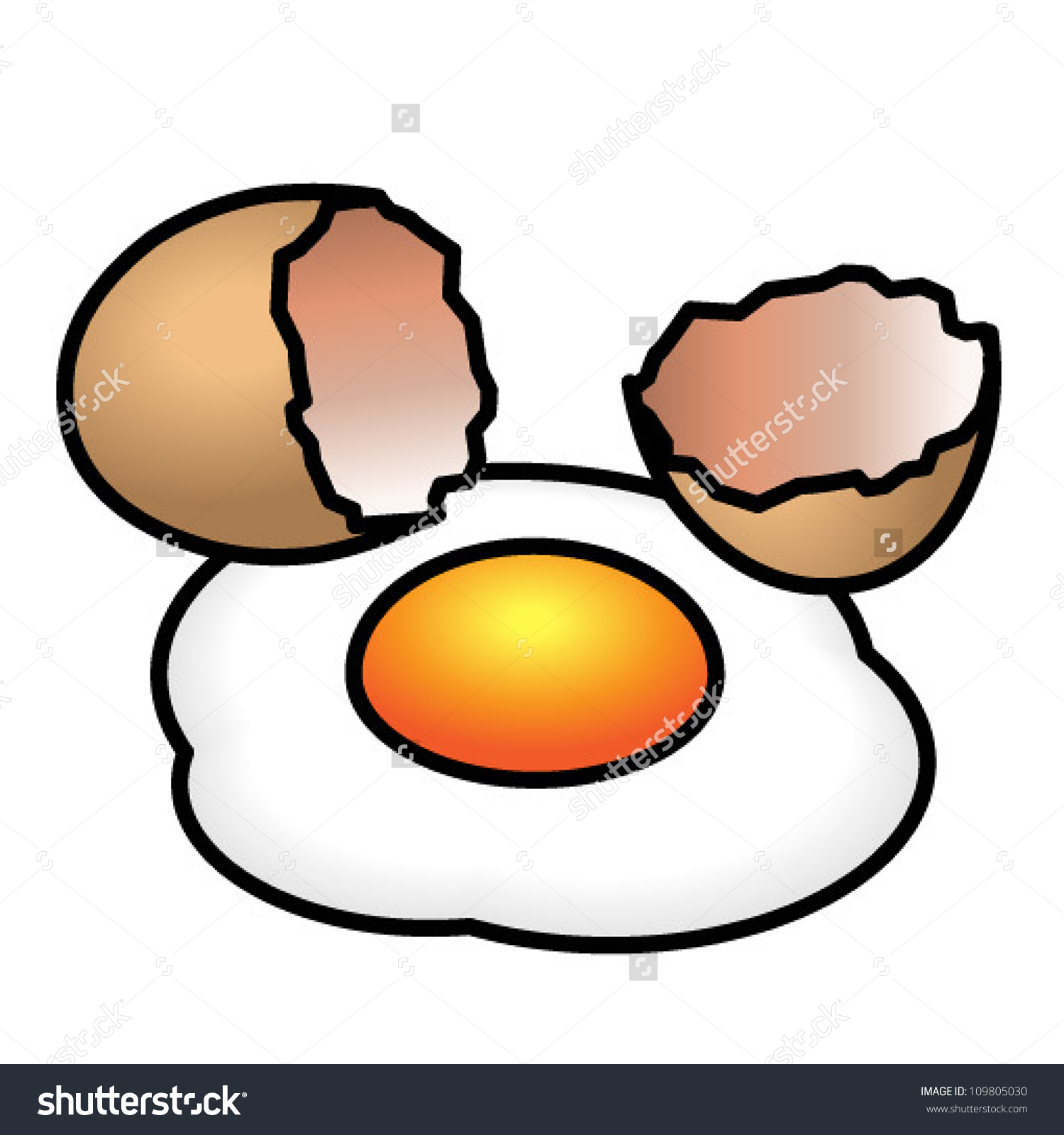 Cracked open egg clipart clipart black and white stock Cracked egg clipart - ClipartFest clipart black and white stock