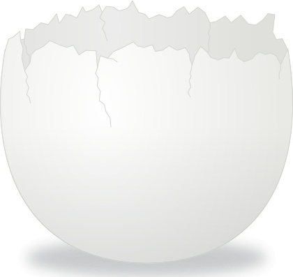 Cracked open egg clipart clip freeuse Cracked Egg clip art Free vector in Open office drawing svg ( .svg ... clip freeuse
