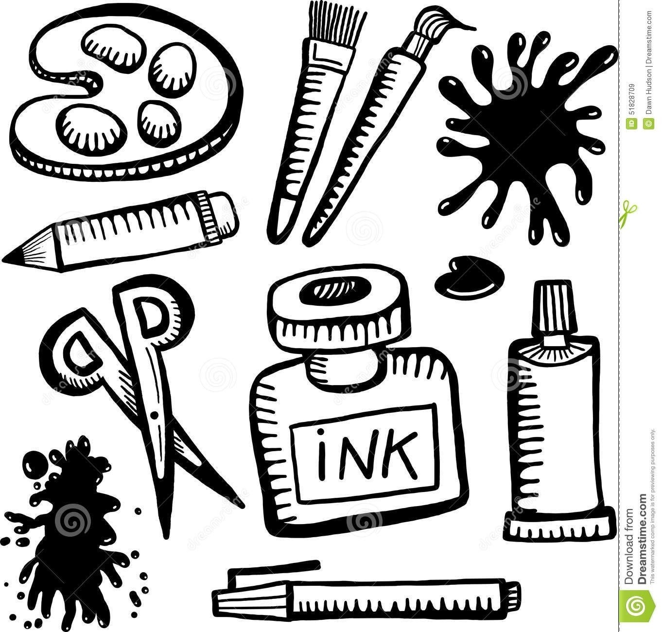 Crafts clipart black and white clip black and white Arts Crafts Clipart Black White Animehana - Decoratorist - #146706 clip black and white