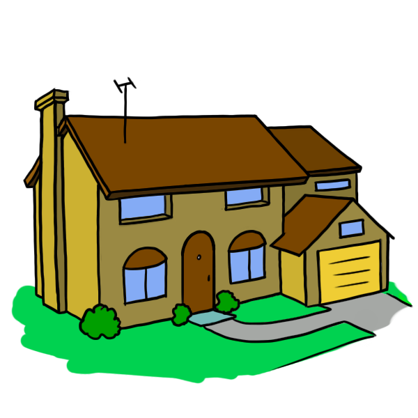 Craftsman house clipart png transparent library House Cartoonpng ClipArt Best, cartoon home - White House png transparent library