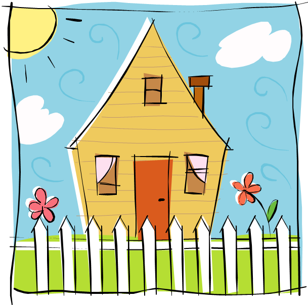 Family in front of house clipart vector freeuse Pictures Of Cartoon Homes (55+) vector freeuse