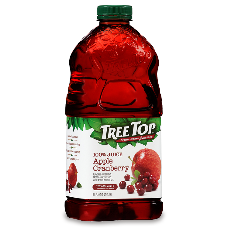 Cranberry juice clipart banner library Apple Cranberry Juice Bottle - Tree Top banner library